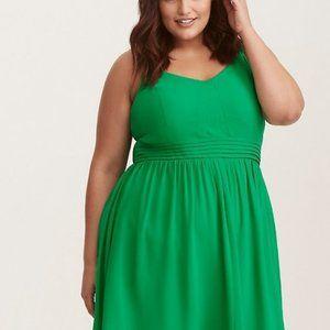 Torrid Green Fit & Flare Dress / Size 0